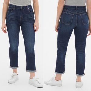 Gap 1969 Dark Wash Girlfriend Jeans Size 27